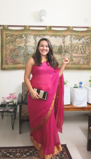 My first sari // New Delhi